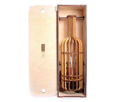 Подарочная коробка + светильник бутылка вина ( темная ) K000 - S0080 СветпромЪ