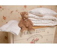 """Одеяло всесезонное для детей, декор кружевом, с бамбуком в хлопковом чехле """"Бамбуковый медвежонок"""" 110х140"""