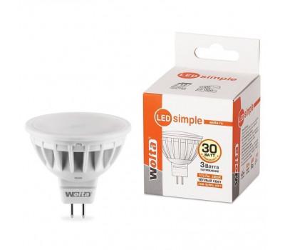 Лампа светодиодная 25YMR16-220-3GU5.3-S Wolta